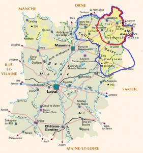 Le miel - Carte Mayenne